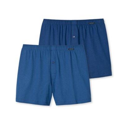 Schiesser Shorts 2-Pack Blauw 154789 | 15733