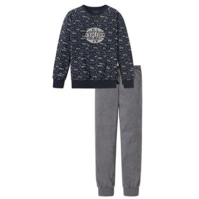 Schiesser Pyjama Zwart/Anthracite 158889 | 17637