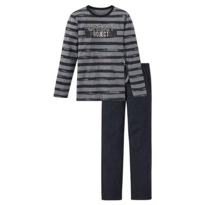 Schiesser Pyjama Antraciet 158893 | 17636
