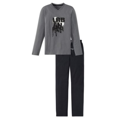 Schiesser Pyjama Antraciet 158894 | 17608