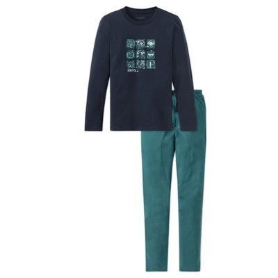 Schiesser Pyjama Blauw 158925 | 17798