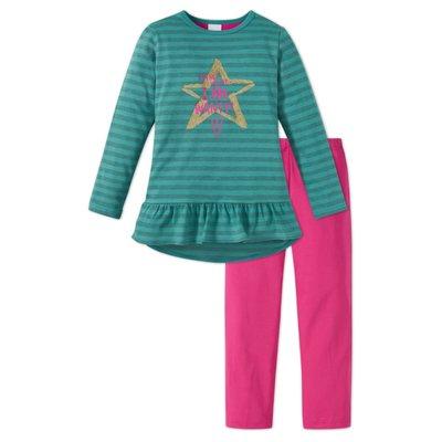 Schiesser Pyjama Mintgroen/fuchsia 159251 | 17811