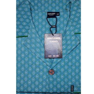 Gentlemen Pyjama Geweven Katoen Groen 94100 | 17218