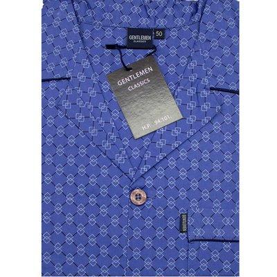 Gentlemen Pyjama Geweven Katoen Blauw 94101 | 17219