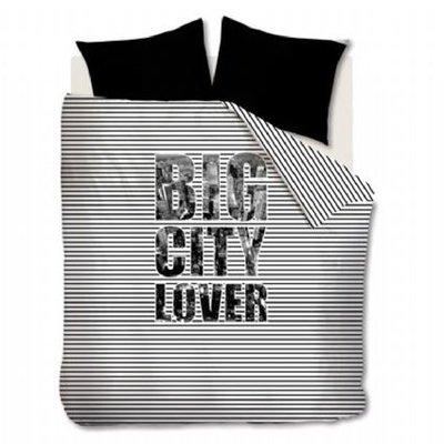 Beddinghouse Dekbedovertrek Big City Lover Black 13538