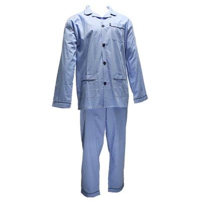 Gentlemen Pyjama Geweven Katoen Blauw 941000 | 18856