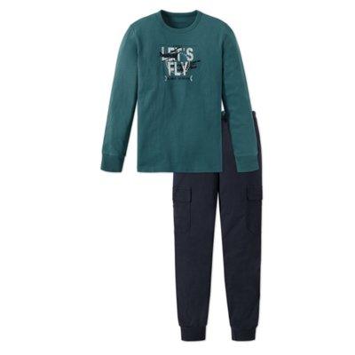Schiesser Pyjama Groen/Blauw 158926 | 17799