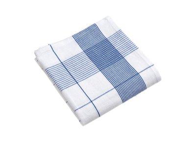 Linolux Glazendoek Wit/Blauw 7494