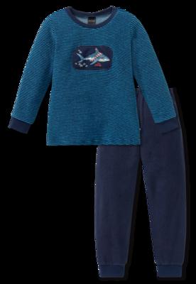 Schiesser Badstof Pyjama 800 Blue 163168 | 19603