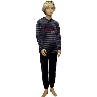 Lunatex Velours Pyjama Antraciet 9840T | 19938