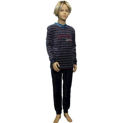 Lunatex Velours Pyjama Petrol 9840T | 19937