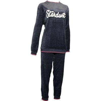 Lunatex Velours Pyjama Antraciet 9831T | 19936