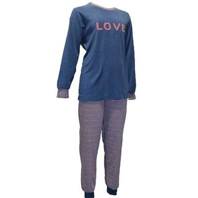 Lunatex Badstof Pyjama Blauw 12-4127 | 20090