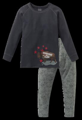 Schiesser Pyjama 203 Antraciet 163422 | 20057