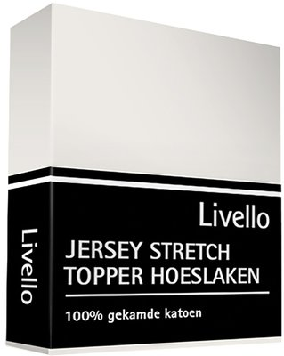 Livello Jersey Stretch Topper Hoeslaken Offwhite HLJ 155 TOP OFW | 12006