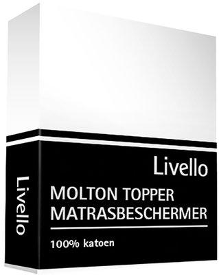 Livello Molton Topper Hoeslaken - Matrasdikte tot 8 cm Wit HLMOL35TOP | 1529