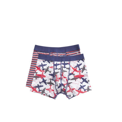 Ten Cate Boys 2-Pack Boxer Blauw/Rood 30828 | 19943