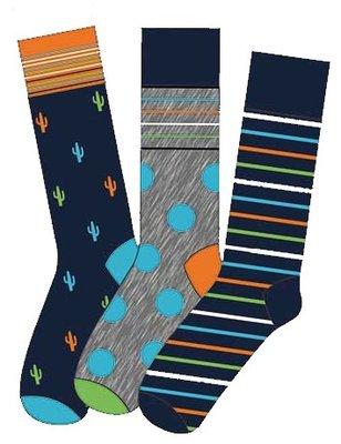 Apollo Heren Sokken Oranje / Blauw 20409