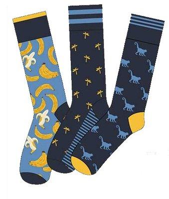 Apollo Heren Sokken Blauw / Geel 20411
