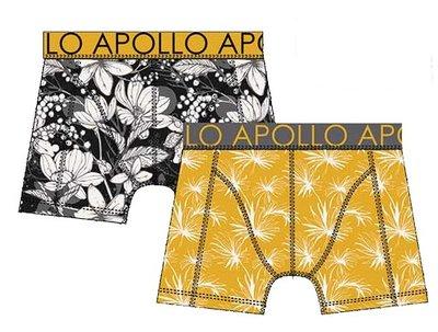 Apollo Boxershorts 2-pack Geel / Zwart 20400