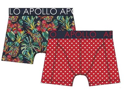 Apollo Boxershorts 2-pack Rood / Blauw 20401
