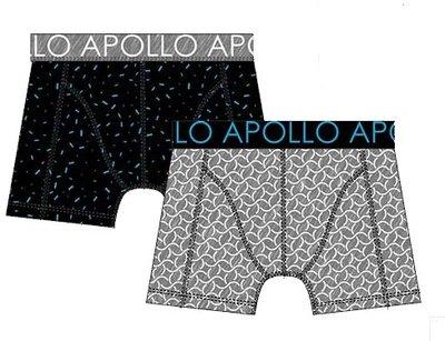 Apollo Boxershorts 2-pack Blauw / Grijs 20402