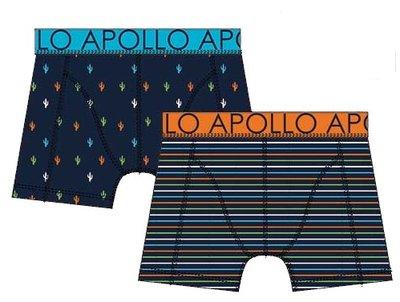 Apollo Boxershorts 2-pack Oranje / Blauw 20403