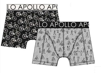 Apollo Boxershorts 2-pack Zwart / Grijs 20404