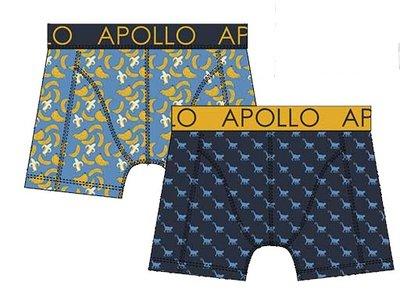 Apollo Boxershorts 2-pack Blauw /Geel 20405
