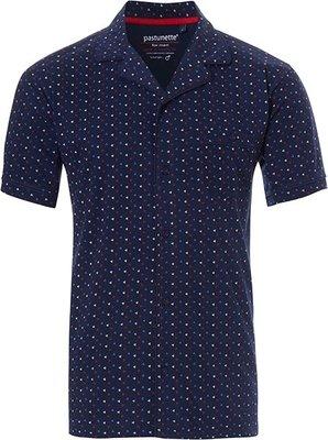 Pastunette Mix & Match Doorknoop Shirt Blauw 4399-624-7 | 20841