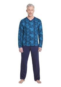 Hajo Pyjama Blue/Aqua 53258 | 21213