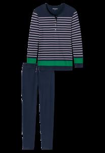 Schiesser Dames Pyjama Nachtblauw 167696   21219