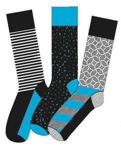 Apollo Heren Sokken Blauw / Grijs 20408