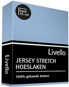 Livello Jersey Stretch Hoeslaken Pastel Blue 22401