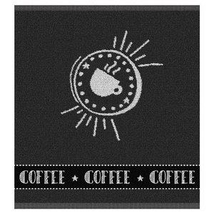 DDDDD Keukendoek Hello Coffee Anthracite 18061