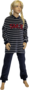 Lunatex Meisjes Pyjama Blauw/Rood MP 98.70T | 21324