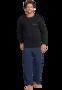 Schiesser Pyjama Black 168221 | 21625