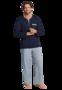 Schiesser Pyjama Lengtemaat 803 Dark Blue 163635 | 19606
