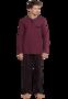 Schiesser Pyjama Lengtemaat Deep Red 168128 | 21232