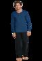 Schiesser Pyjama Lengtemaat Royaal Blue 159630 | 21624