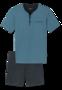 Schiesser Shortama Turquoise Navy 161114 | 18872