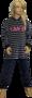 Lunatex Velours Meisjes Pyjama Blauw/Fuchsia 9870T | 21325