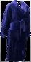 Lunatex Dames Badjas Navy 23725