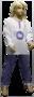 Lunatex Meisjes Pyjama Grey Melée/Blue 98085 | 24980